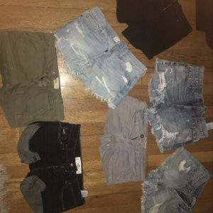 SHORTS FROM HCO, A&F, F21 ETC